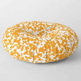 Small Spots - White and Orange Floor Pillow