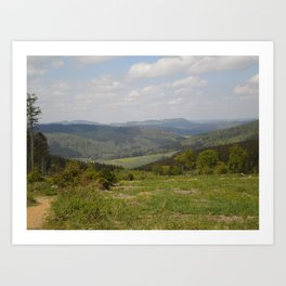 The Hills of the Sauerland Art Print