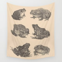 Naturalist Frogs Wall Tapestry