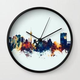 Tehran Iran Skyline Wall Clock