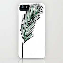 Exotic feather iPhone Case