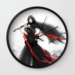 Playing the Violin Wall Clock