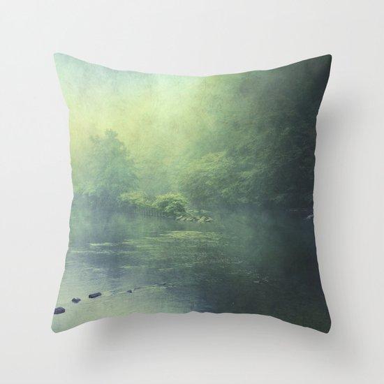 mystic haze Throw Pillow