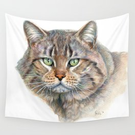 Street Cat portrait CC1402 Wall Tapestry