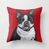 coco Throw Pillows featuring Coco by Pawblo Picasso