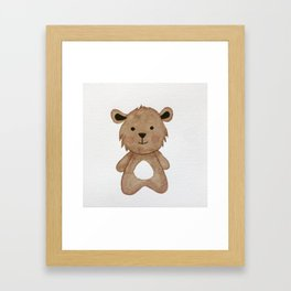 Teddy Bear Watercolour Illustration Framed Art Print