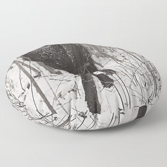 Snow Wolf Floor Pillow