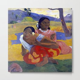 Paul Gauguin When Will You Marry? Metal Print