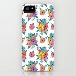 Gouache floral iPhone Case