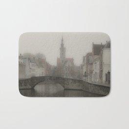 Misty Bridge of Bruges Bath Mat
