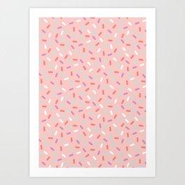 Pink Sprinkle Confetti Pattern Art Print