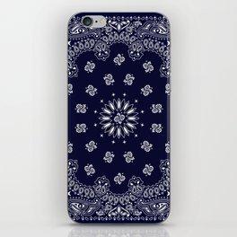 Paisley - Bandana - Navy Blue - Southwestern - Cowboy iPhone Skin