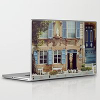 jewish Laptop & iPad Skins featuring Blue Shutters in the Sun by Brown Eyed Lady