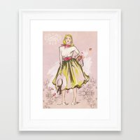 50s Framed Art Prints featuring 50s by Galvanise The Dog