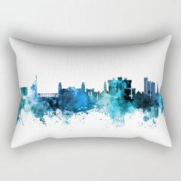 Fayetteville Arkansas Skyline Rectangular Pillow