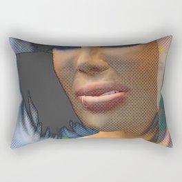 Lips Disdained, 2008 Rectangular Pillow