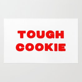 Tough cookie for all the strong people Rug