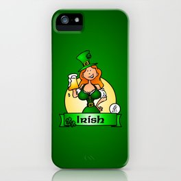 St. Patrick's Day Irish Maiden iPhone Case