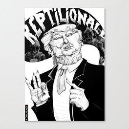 Reptilionald Trump Canvas Print