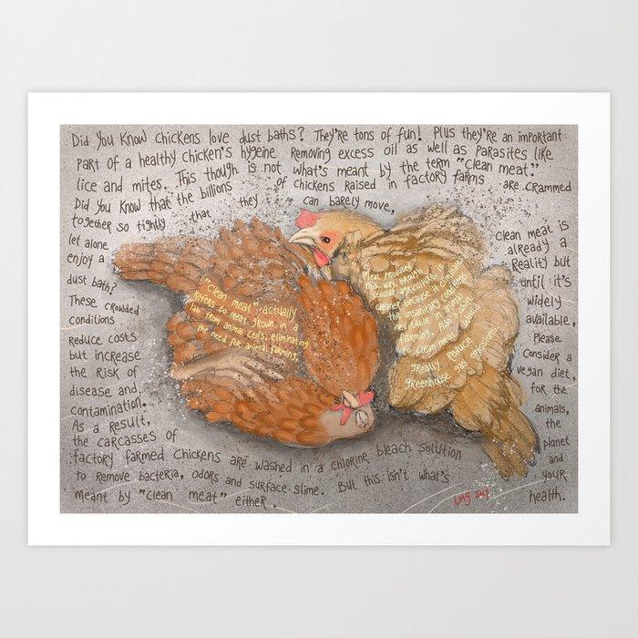 Chickens 2 Art Print