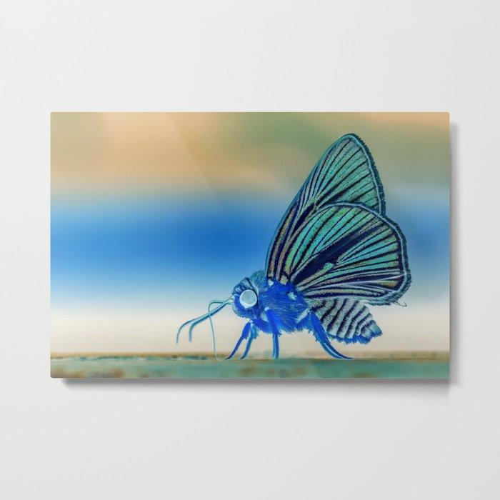 Azul Mothra Metal Print