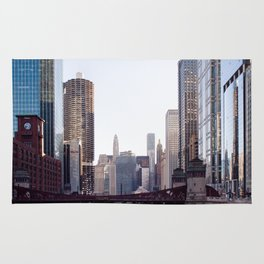 Chicago River Skyline Rug
