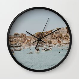 at the harbor Wall Clock