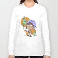 aladdin Long Sleeve T-shirts featuring Cute Aladdin by EY Cartoons