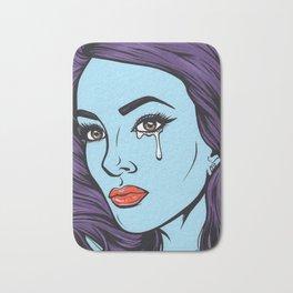 Purple Crying Comic Girl Bath Mat