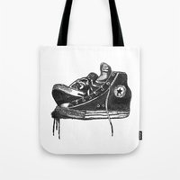 sneakers Tote Bags featuring sneakers by Cardula