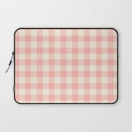PASTEL GINGHAM 02, blush pink squares Laptop Sleeve