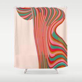 Wave Series Shower Curtain