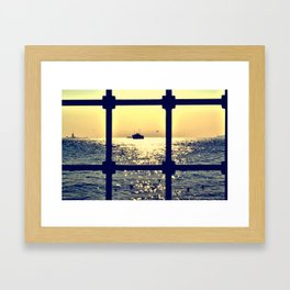 istanbul from behind the bars Framed Art Print
