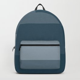 Minimal Retro Sunset / Sunrise - Ocean Blue Backpack