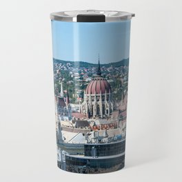 Hungarian Parliament from St. Stephen's Basilica - Budapest Travel Mug