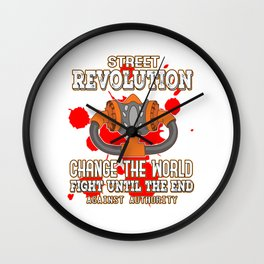This is the awesome revolutionary Tshirt Those who make peaceful revolution Change the world & fight Wall Clock