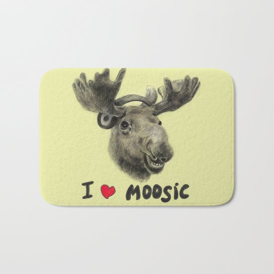 I love Moosic! // moose Bath Mat