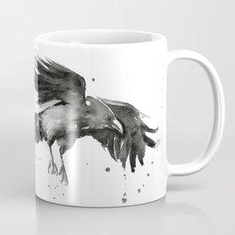 Raven Watercolor Coffee Mug
