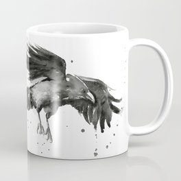 Raven Watercolor Coffee Mug