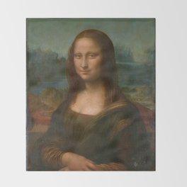 Mona Lisa Classic Leonardo Da Vinci Painting Throw Blanket