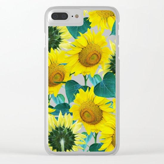 Sun Flowers #society6 #decor #buyart Clear iPhone Case