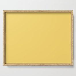 From The Crayon Box – Dandelion Yellow Solid Color Serving Tray