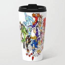 Sonic the hedgehog characters 2 Travel Mug