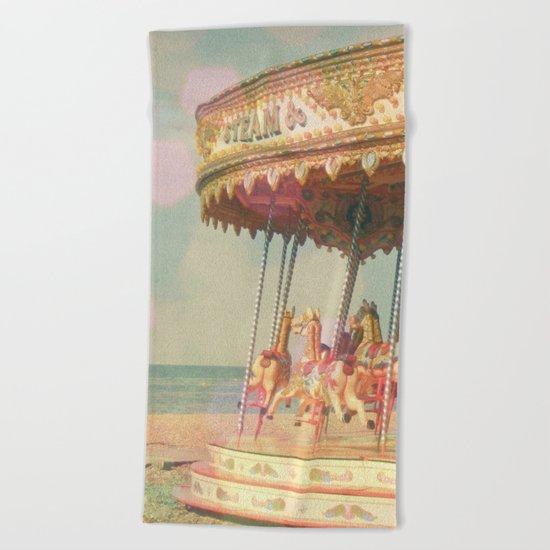 Circling Horses Beach Towel