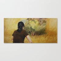 degas Canvas Prints featuring Looking at Degas by Helena Hsieh