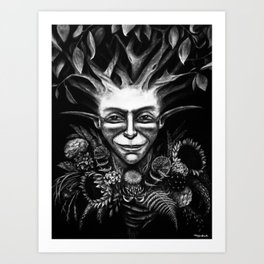 """Pan of the Woods"" Art Print"