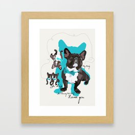 Chauncey Loves You - French Bulldog Framed Art Print