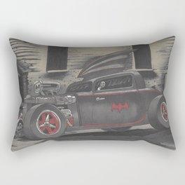 Hot Rod Batmobile  Rectangular Pillow