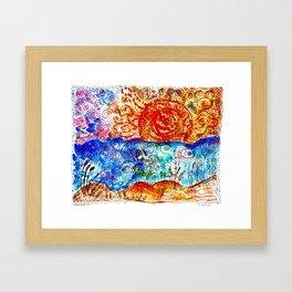 psychedelic sunset #15 Framed Art Print