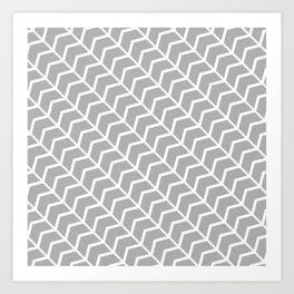 ArrowHead Gray Art Print
